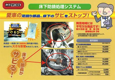 床下防錆処理システムA